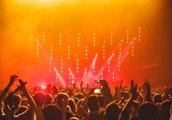 people enjoying the concert